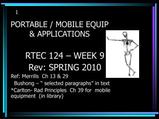 PORTABLE / MOBILE EQUIP  & APPLICATIONS
