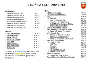 3-157 th  FA UMT Battle Drills