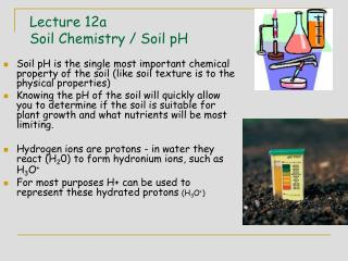 Lecture 12a Soil Chemistry / Soil pH