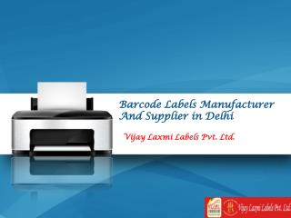 Barcode Labels Manufacturer, Supplier in Delhi