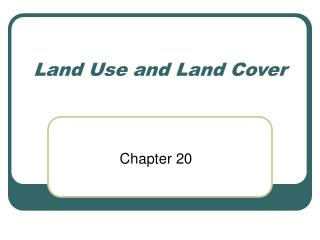 Land Use and Land Cover