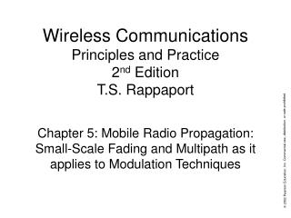 Wireless Communications Principles and Practice 2nd Edition T.S. Rappaport