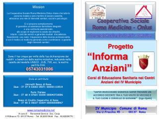 Cooperativa Sociale  Roma Medicina - Onlus