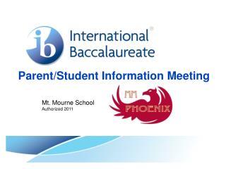 Parent/Student Information Meeting
