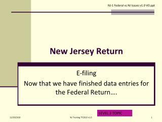 New Jersey Return