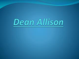 dean allison