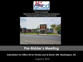 District of Columbia Department of Housing and Community Development