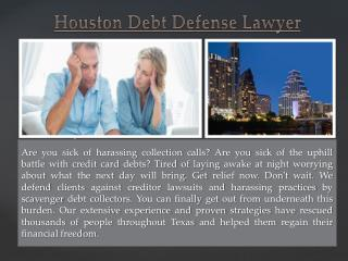 Houston Credit Card Debt Lawyer