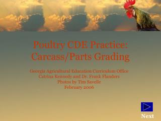 Poultry CDE Practice: Carcass/Parts Grading