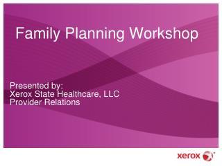 Family Planning Workshop