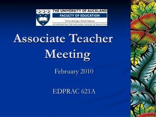 Associate Teacher Meeting