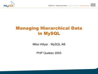 managing hierarchical data