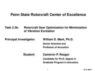Penn State Rotorcraft Center of Excellence