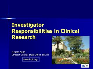 Investigator Responsibilities in Clinical Research