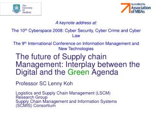 The future of Supply chain Management: Interplay between the Digital and the  Green  Agenda