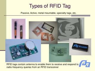 Types of RFID Tag