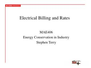 Electrical Billing and Rates