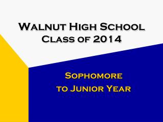 Walnut High School Class of 2014