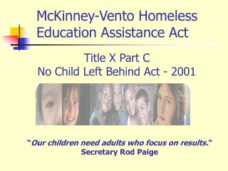 Title X Part C  No Child Left Behind Act - 2001