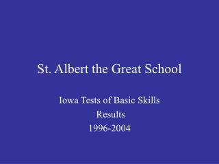 St. Albert the Great School