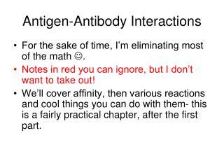 Antigen-Antibody Interactions