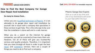 How to Find the Best Company For Garage Door Repair