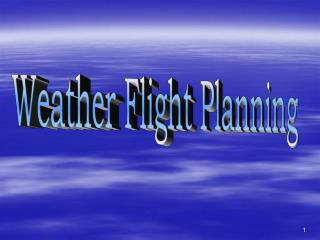 Weather Flight Planning