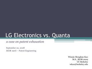 LG Electronics vs. Quanta