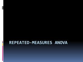 Repeated-Measures  ANOVA