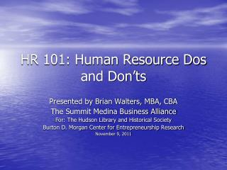 HR 101: Human Resource Dos and Don'ts