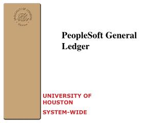 PeopleSoft General Ledger