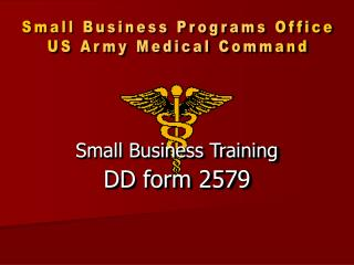 Small Business Training DD form 2579