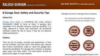 8 Garage Door Safety and Security Tips