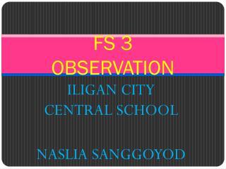 FS 3 OBSERVATION