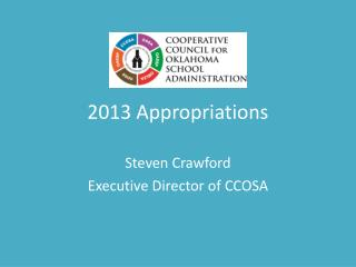 2013 Appropriations
