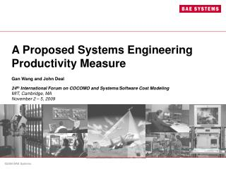 A Proposed Systems Engineering Productivity Measure
