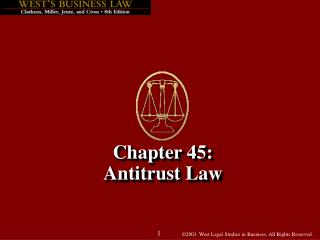 Chapter 45: Antitrust Law