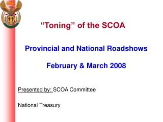 """Toning"" of the SCOA"