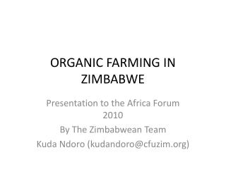 ORGANIC FARMING IN ZIMBABWE