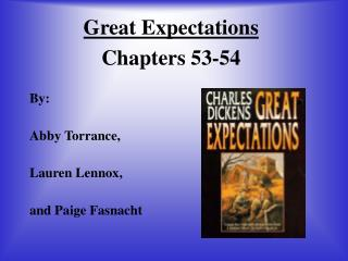 Great Expectations Chapters 53-54
