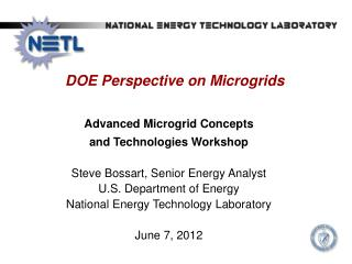 DOE Perspective on  Microgrids