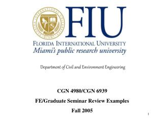 Department of Civil and Environment Engineering