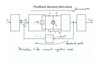 Feedback theorem derivation