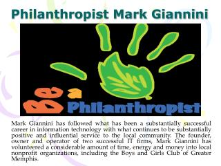 Philanthropist Mark Giannini