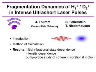 Fragmentation Dynamics  of H 2 +  / D 2 + in Intense Ultrashort  Laser Pulses