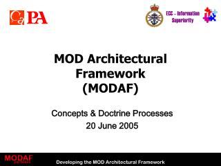 MOD Architectural Framework (MODAF)