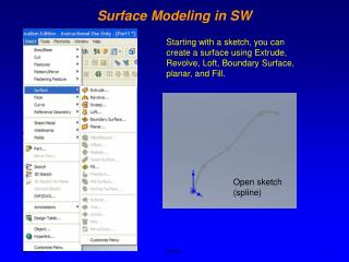 Surface Modeling in SW