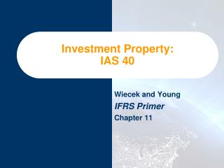 Investment Property: IAS 40