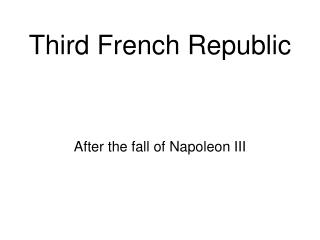 Third French Republic