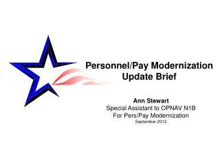 Personnel/Pay Modernization Update Brief